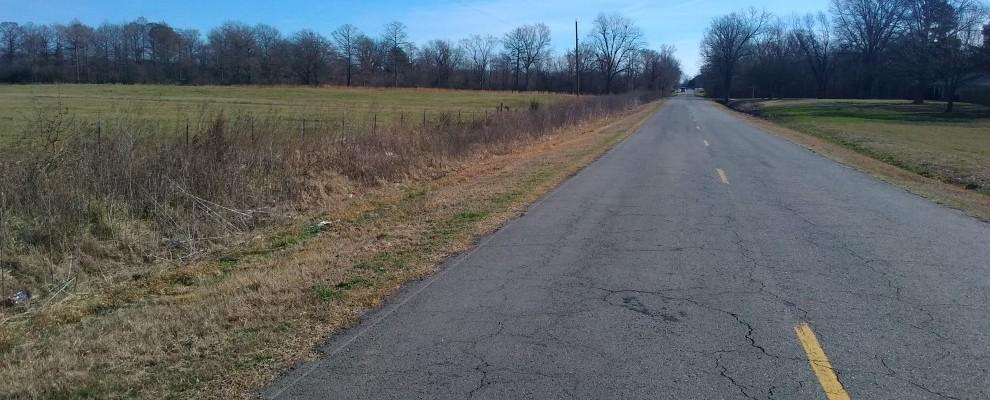 Faulkner Lake Road looking east